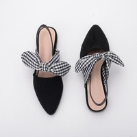 Pointed Toe Slingback Mules