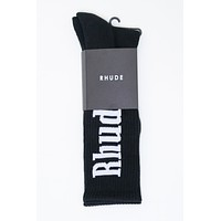 Logo Sock in Black and White