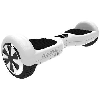 """CoolReall™ Self Balancing Scooter Two 6.5"""" Wheel Self Balance Electric Hoverboard Drifting Personal Transporter Mini Unicycle with Certified Safe Battery Pack and Led Lights(White)"""
