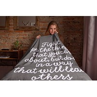 Fight For What You Care About RBG Throw Blanket