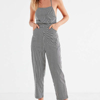 Silence + Noise Strappy Striped Culotte Jumpsuit | Urban Outfitters
