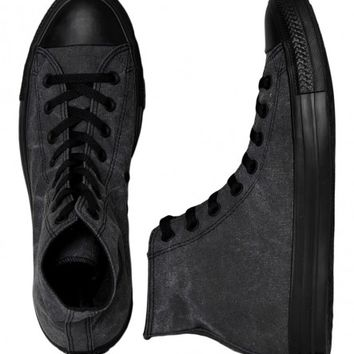 Converse - All Star Hi Basic Vintage Tex Jet Black - Shoes