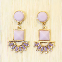 Lilac Inca Earrings - Earrings