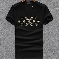 Louis Vuitton  Men Fashion Casual Letter Print Shirt Top Tee