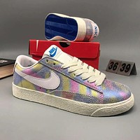 NIKE Women Running Sport Casual Shoes Sneakers Low Help Shoes Rainbow Color I-CSXY