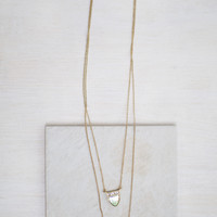 Moon Stone Layer Necklace
