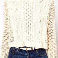 ASOS PETITE Exclusive Crop Jumper in Knit