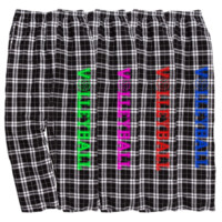 Volleyball Black and White Checkered Flannel Pants