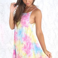 Indiana Dress Rainbow Tie Dye