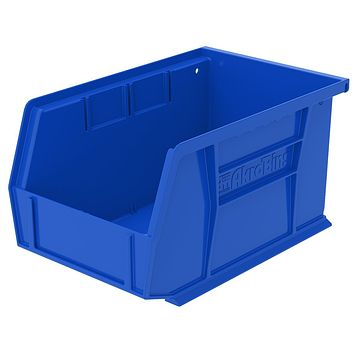 Akro-Mils 30237 AkroBins Plastic Storage Bin Hanging Stacking Containers, (9-Inch x 6-Inch x 5-Inch), Blue, (12-Pack), Model Number: 30237BLUE