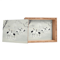 Belle13 Winter Love Dance Of Japanese Cranes Jewelry Box