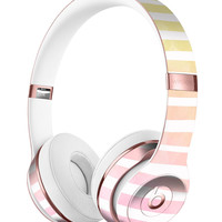 Gold to Pink WaterColor Ombre Stripes Full-Body Skin Kit for the Beats by Dre Solo 3 Wireless Headphones