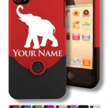 Personalized Case/Cover for iPhone 4/4S - INDIAN ELEPHANT - Laser Engraved for Free