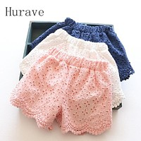 Summer Baby Girls Shorts Lace Solid Toddler Girls Pants Cotton Girl Clothes