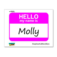 Molly Hello My Name Is Sticker