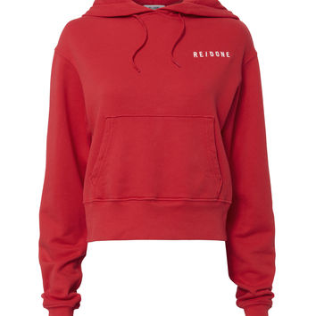 Classic Red Cropped Hoodie