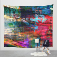 Rose and Butterfly Wall Tapestry by Haroulita