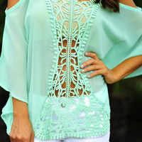 Once Upon A Time Blouse: Mint | Hope's