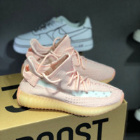 HCXX 19July 245 Adidas Yeezy Boost 350V2 true from Yeezy 3.0 Reflecive Shoelace Fashion Casual Flyknit Running Shoes pink
