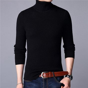 Christmas Sweater Men Clothes Winter Thick Warm Mens Sweaters Casual Classic Turtleneck Cashmere Pullover Men