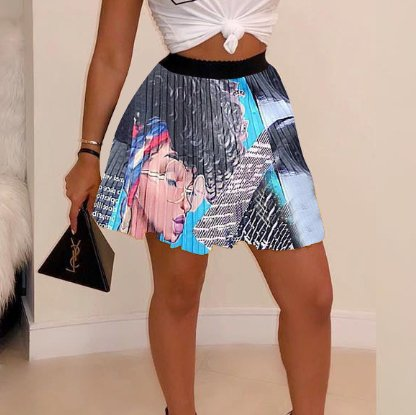 Image of Newest Fashion Women Sexy Letter Print Skirt
