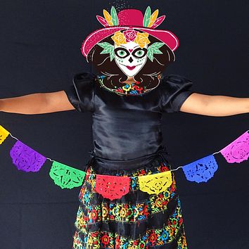 5 Pk Mexican Papel MINI Banners Coco inspired 20ft WS99