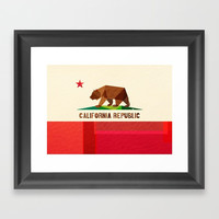 California 2 (rectangular version) Framed Art Print by Fimbis