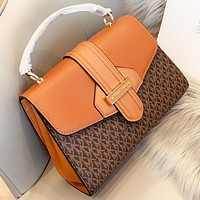 MK Michael Kors New fashion more letter leather shopping and leisure shoulder bag crossbody bag handbag Brown