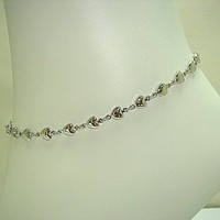 Tapp Collections™ Silver Tone Anklet Bracelet Fashion Jewelry