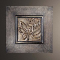 Minka Ambience Square Wall Art IV in Dark Burlap with Warm Silver - 40017-0 - All Wall Art - Wall Art & Coverings - Decor