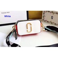 Marc Jacobs casual small shoulder bag hot seller in shopping patchwork color White