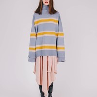 [SAMPLE] Oversized High-neck Sweater