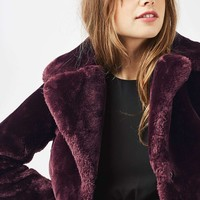 Crop Chubby Faux Fur Coat | Topshop