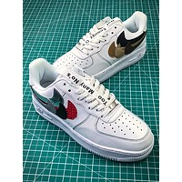 The Shoe Surgeon X Nike Air Force 1 Whit Af1 Low Swoosh Sport Shoes