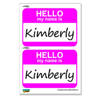 Kimberly Hello My Name Is - Sheet of 2 Stickers