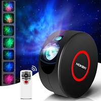 LED Night Light, Colorful Projector, HOKEKI Star Projector, Galaxy Projector, Lights for Room, Starlight Projector, 7 Lighting Effects, SuitableFor Bedroom and Party Decoration,Black Black