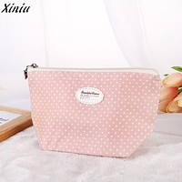 Casual Women's Purse Handbags Phone Holder Portable Travel Cosmetic Bag Makeup Case Pouch Toiletry Wash Organizer Clutch Female