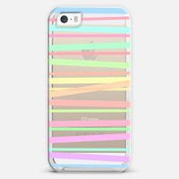 Pastel Rainbow Stripes II - Transparent/Clear background iPhone 5s case by Lisa Argyropoulos   Casetify