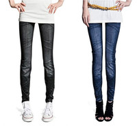 Women's Ladies Casual Tights Stretch Skinny Pants Jean Legging 2 Colors