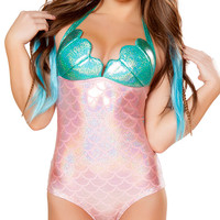 Aqua Twinkle Mermaid Bodysuit