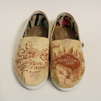 Map Color Authentic Toms Marauder's Map Harry Potter Shoes