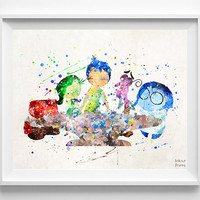 Inside Out Print, Inside Out Poster, Inside Out Art, Disney Inside Out, Pixar Inside Out, Best Friend Gift, Gift For Her, Christmas Gift