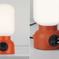 Plug Lamp Puts an Outlet Right Where You Need It