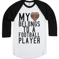 My heart belong to a football player tee t shirt-T-Shirt