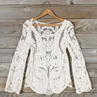 Laced in Snow Blouse