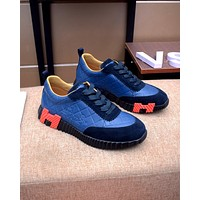HERMES2021 Men Fashion Boots fashionable Casual leather Breathable Sneakers Running Shoes08110cx