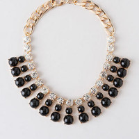 BRUSSELS CABOCHON JEWELED NECKLACE
