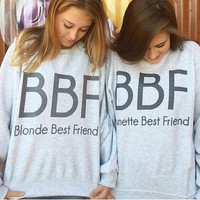 BBF-Blonde Best Friend-Brunette Best Friend-BFF- Tri blend T Shirt-Funny-Women's [9245971972]
