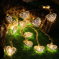 NEW 2016 Heart Shapes LED Fairy Lights Outdoor Garden Tree Christmas luces Decorative Wedding Decoration Party String Lights Z1