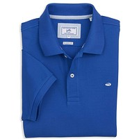Short Sleeve Skipjack Polo in Royal Blue by Southern Tide